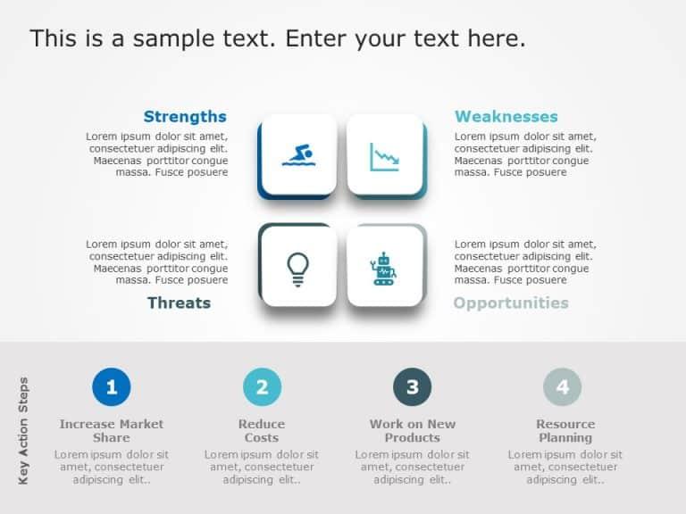 SWOT Highlights PowerPoint Template