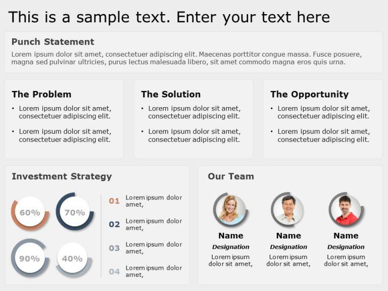 Startup Summary PowerPoint Template