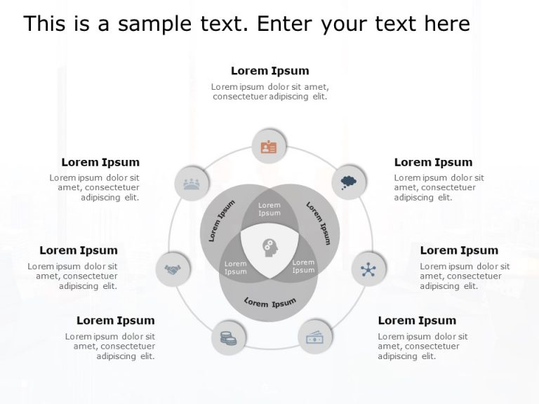 Venn Business Strategy PowerPoint Template