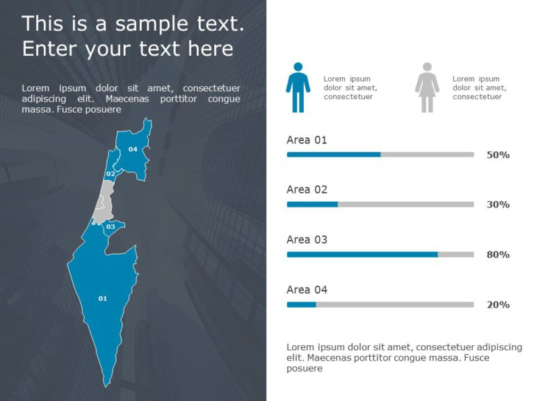 Israel Map Powerpoint Template 2