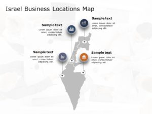 Israel Map Powerpoint Template 4