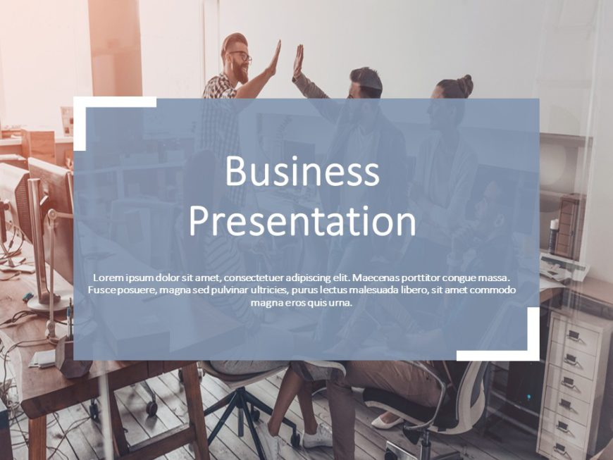 Grey Professional PowerPoint Theme & Background