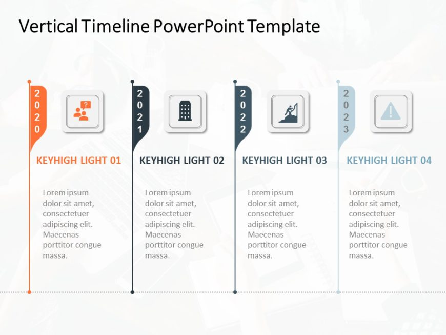 Vertical Timeline PowerPoint Template