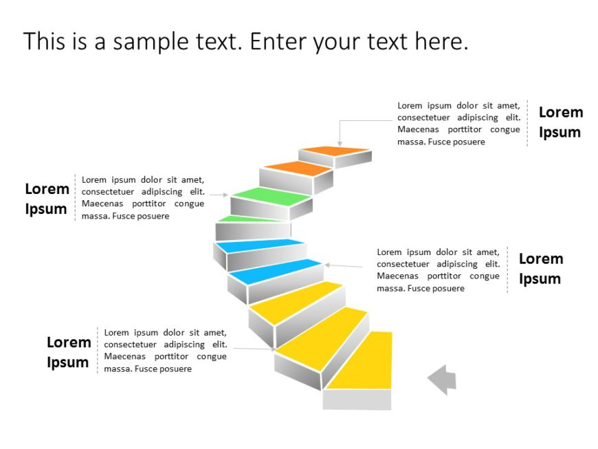 Animated Staircase Roadmap PowerPoint Template 1