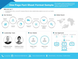 One Page Fact Sheet 05
