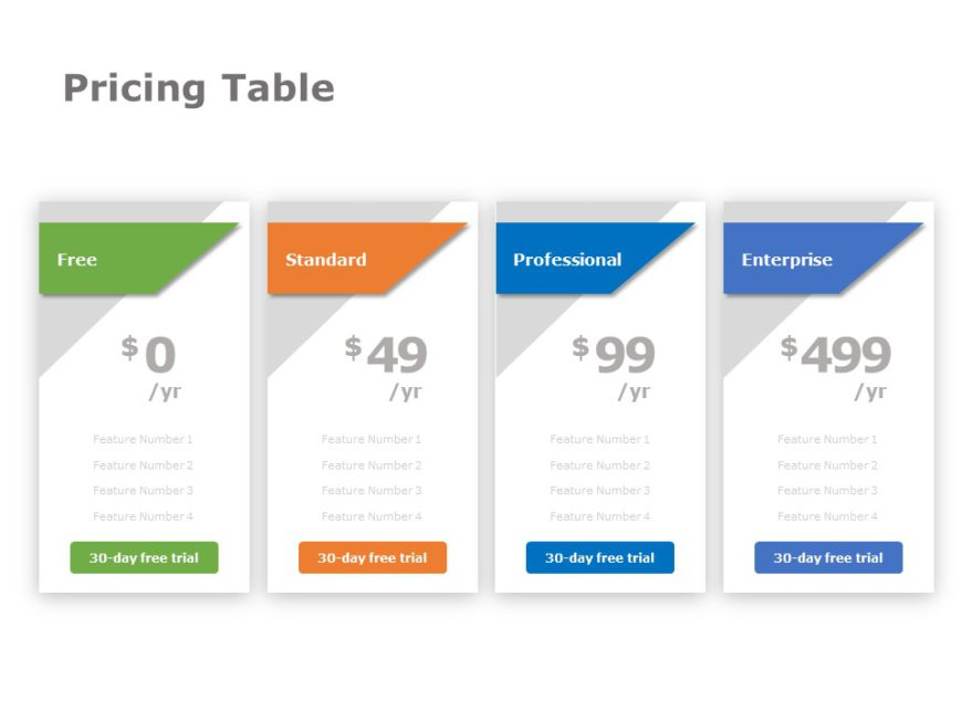 Pricing Table 04